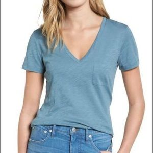 NWT Madewell Whisper V Neck Pocket T-Shirt